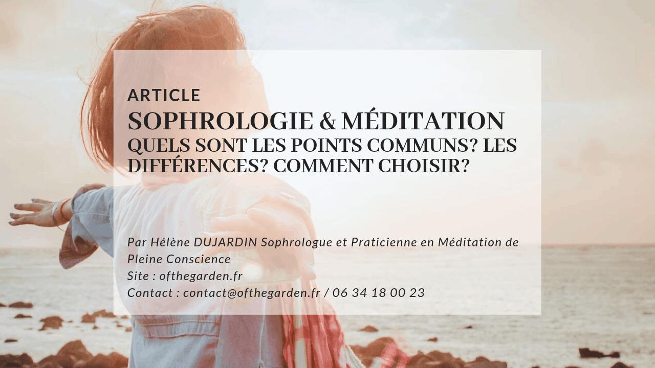 sophrologie meditation difference commun choix
