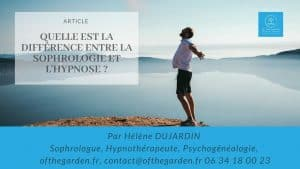 difference sophrologie hypnose
